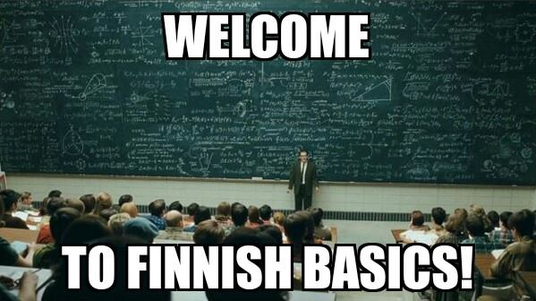 Welcome to finnish basics
