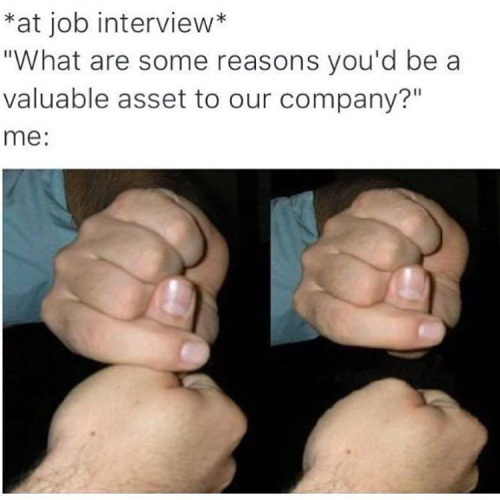 At job interview