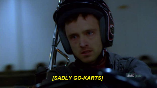 [sadly go-karts]