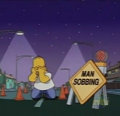 Man sobbing - The Simpsons