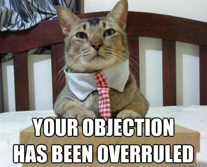Your objection has been overruled