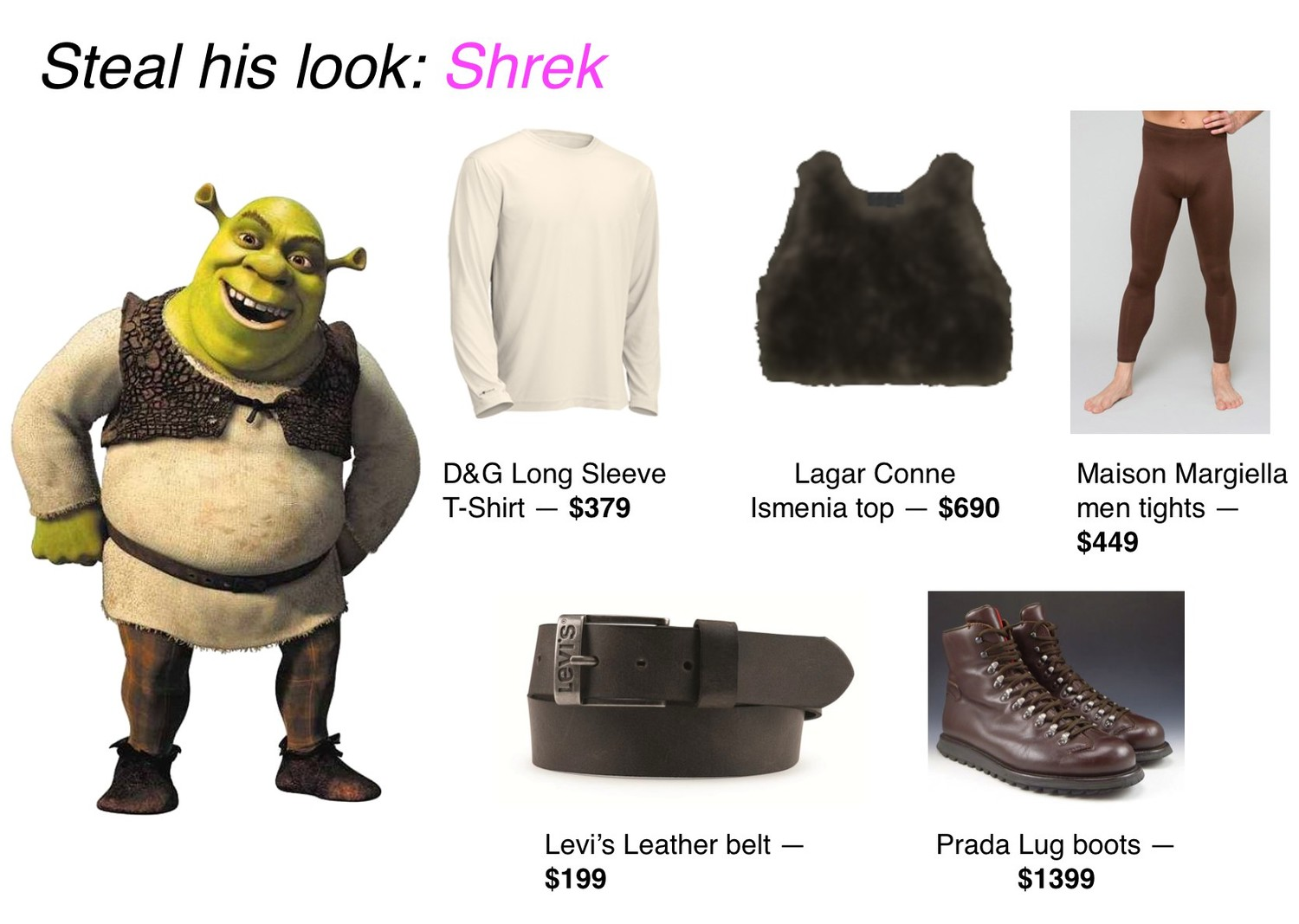 Meme Steal his look: Shrek