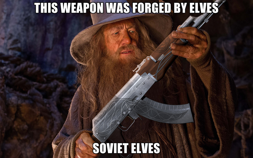 Meme Whis weapon was forged by elves - Soviet elves