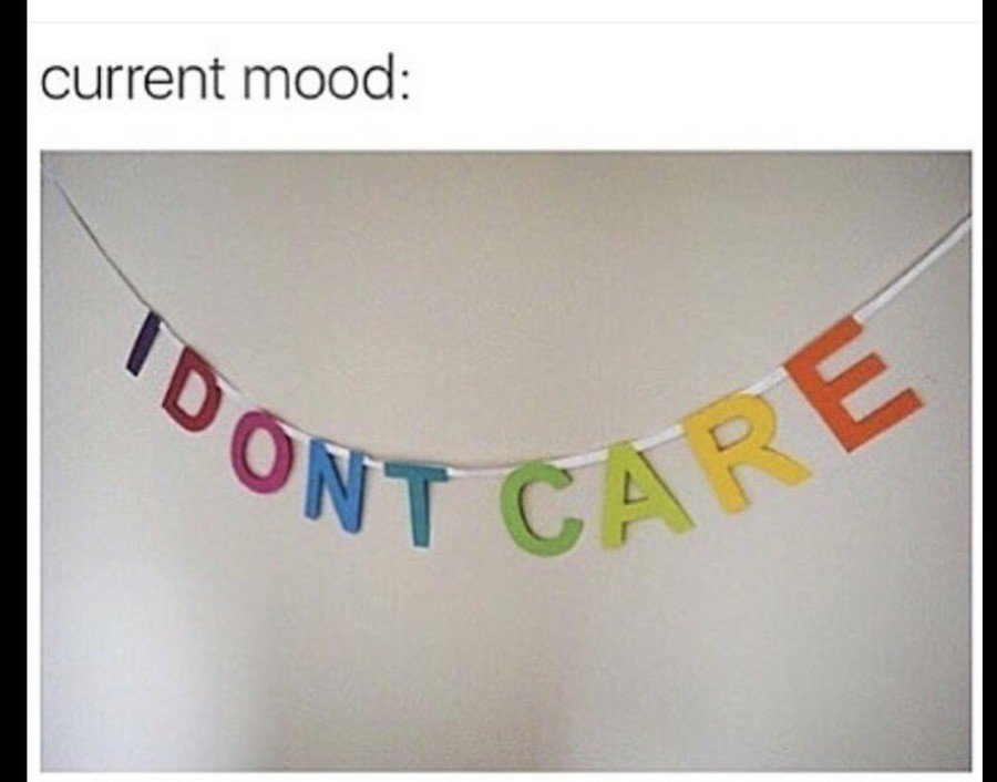 Meme Current mood: I don't care
