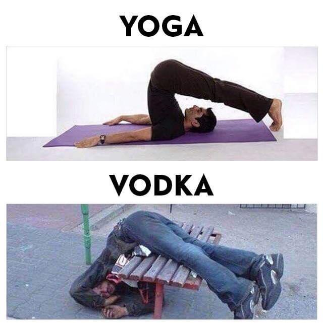 Meme Yoga Vodka